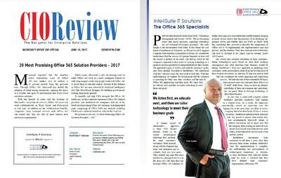CIO Review Names IntelliSuite to 20 Most Promising Office